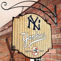 New York NY Yankees MLB Indoor/Outdoor Wall Mount Bar and Tavern Sign