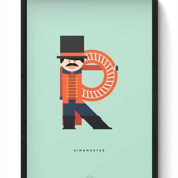 Alphabet People - Ringmaster Framed Poster