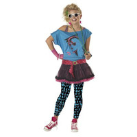 California Costumes Girls Valley Girl Halloween Party 80's Costume