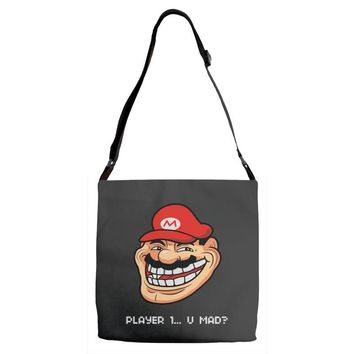 player 1 (2) Adjustable Strap Totes