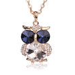 Owl Collection Gold Gold and Swarovski Crystal Featuring BLUE Eyes