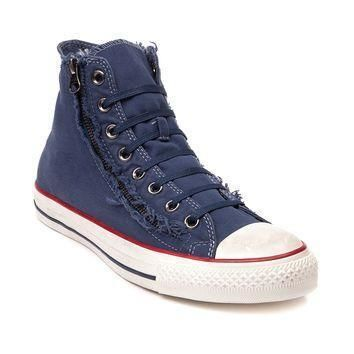 converse all star hi washed zip sneaker