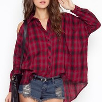Flannel Cutout Shirt in What's New at Nasty Gal