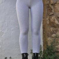3432 Vintage Retro Ash Grey American Apparel Leggings