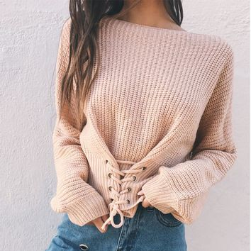 Winter Long Sleeve Sexy Slim Tops Sweater [11791022351]