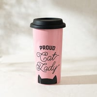 Proud Cat Lady Pink Coffee Tumbler