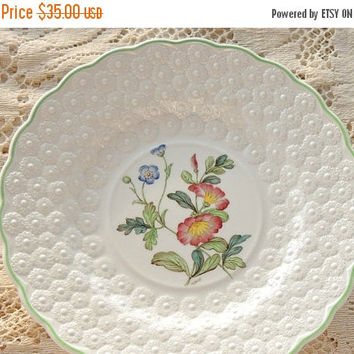 On Sale Vintage Spode Botanical  Plate, Flowers of the Month #2, Convolvulus Collectible Plate, Signed Numbered 9366, Cabinet Plate Ca. 1932
