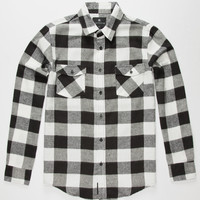Shouthouse Cast Mens Flannel Shirt Black/White  In Sizes