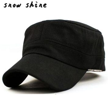 ac NOOW2 snowshine #5003  Classic Plain Vintage Army  Cadet Style Cotton Cap Hat Adjustable free shipping