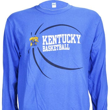 University of Kentucky UK BALL on Blue Long Sleeve