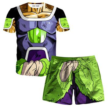 Broly Armor T-Shirt And Shorts Rave Outfit