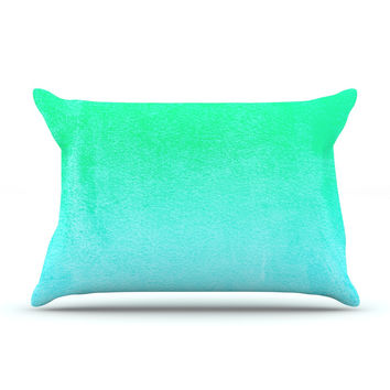 "Monika Strigel ""Blue Hawaiian"" Aqua Green Pillow Sham"