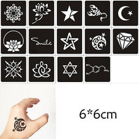 1Sheet Black Flower Style Henna Stencil Body Temporary Tattoo Sticker Paper HU