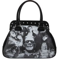 Rock Rebel Universal Monsters Collage Bag | Hot Topic