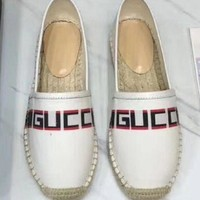 Gucci Shoes Fisherman shoes canvas shoes Women Sandals B-TFDXY-XNEDX White