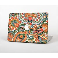"The Vintage Hand-Painted Coral Abstract Pattern Skin Set for the Apple MacBook Pro 13"" with Retina Display"