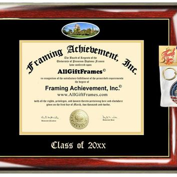 AllGiftFrames Custom Diploma Frame Embossed Diploma Frame SJSU College San Jose State University Best Graduation Degree Frame Double Mat Campus Fisheye Picture Cheap Degree Graduate Gift