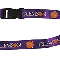 UNIVERSITY OF CLEMSON TIGERS PURPLE BREAKAWAY LANYARD ( Football, Basketball, Softball, Baseball,NCAA)