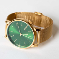 Komono Royale Series Watch Gold Green