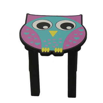 Childrens stool. Owl chair for kids. Owl theme