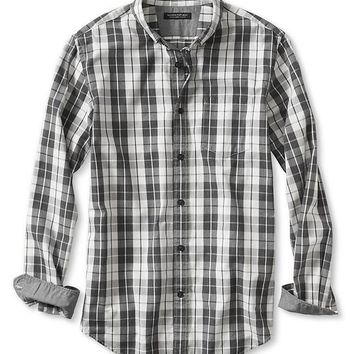 Banana Republic Mens Slim Fit Graphic Check Luxe Flannel Oxford