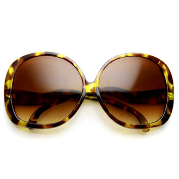 Women's High Fashion Super Oversize Square Low Temple Sunglasses 9489
