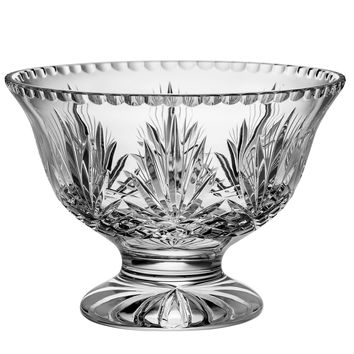 "Majestic Gifts C642MJ-10 Hand Cut Crystal Pedestal Bowl, 10""D"