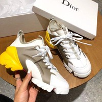 DCCK Dior  Women Casual Shoes Boots fashionable casual leather Women Heels Sandal Shoes