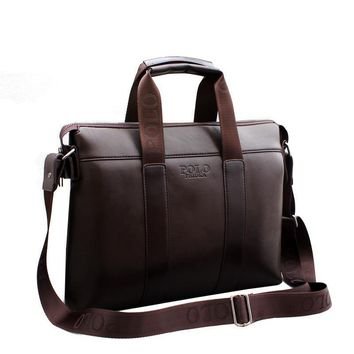 Famous Brand Designer Briefcase Simple Mens Leather Briefcase Solid Large Business Man Bag Laptop Bag Messenger Bag for MenIte
