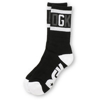 DGK G Crew Black & White Crew Socks at Zumiez : PDP