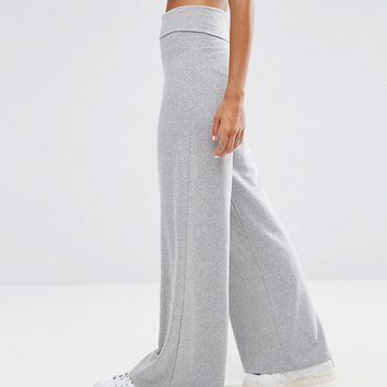 ASOS Lounge Foldover Flare Trousers