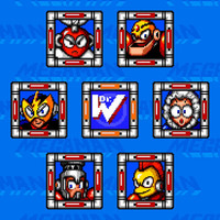 Mega Man robot masters video game poster