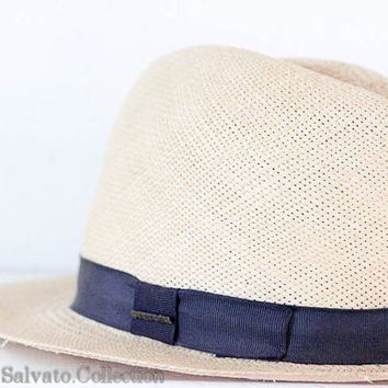 1940 / 50s Original Panama Style Stetson Hat by SalvatoCollection