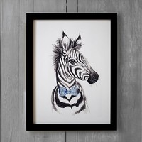 Dapper Zebra Wall Art by Minted®