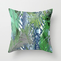 Welcome To The Jungle Throw Pillow by ALLY COXON