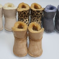 Girls' Winter Boots With Fur Soft Soled