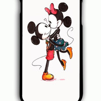 iPhone 6S Plus Case - Hard (PC) Cover with Mickey And Minnie Mouse Kissing Plastic Case Design