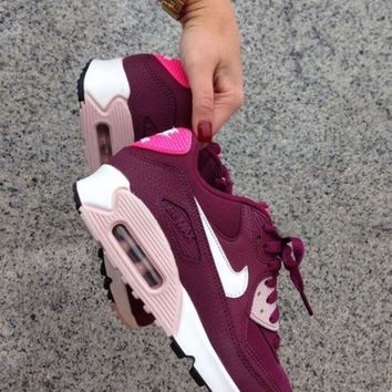 Nike Air Max 90 Fashion Women Retro Running Sports Shoes Sneakers Purple I/A