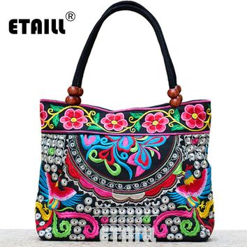 Vintage Embroidery Bags Indian Boho Shoulder Bag Logo Handbags