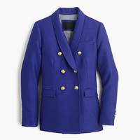 J.Crew Womens Collection Double-Breasted Blazer In Wool-Silk