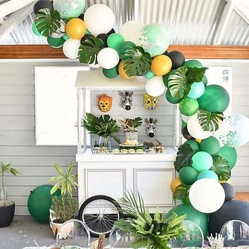 Wedding Party Decoration Flamingo Summer Party Supplies Palm Leaves Hawaiian Birthday Jungle Beach Theme Party Pineapple Balloon