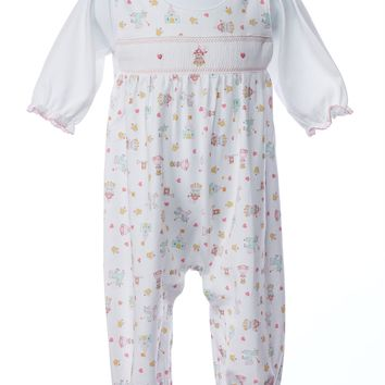 Baby Threads Princess & Castles 2pc. Smocked Pant Set