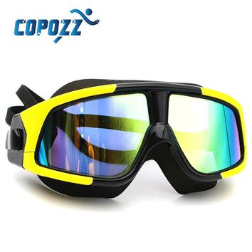 Professional Swimming Goggles Men Women Anti-fog Anti-UV Lightweight Swim Glasses Mirror Coating Polarized Large Frame