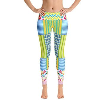 """Crazy Quilt"" Standard Made to Order Yoga Pants"