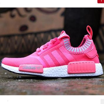 Women Adidas NMD Boots Casual Sports Shoes Pink