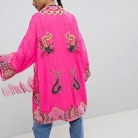 ASOS Kimono with Dragon Embellishment at asos.com