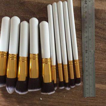 10 Pcs Makeup Brush Setes Professional Cosmetic Eye Tool