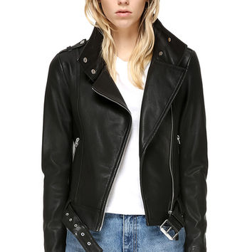 HANIA | BIKER LEATHER JACKET | WOMEN | MACKAGE
