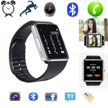 2015 Newest men style android phone wrist Smart watch GT08 1.54 Inch 1.3 M smartwatch support SIM card TF Card Bluetooth = 1748267524