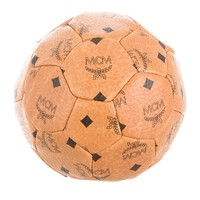 MCM Rare Limited Edition FIFA World Cup Brown Cognac Leather Logo Soccer Ball